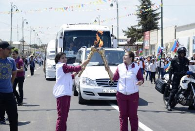 Bilasuvar the next stop on the journey of Baku 2015 flame