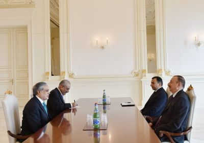 President Aliyev received Pakistani Minister
