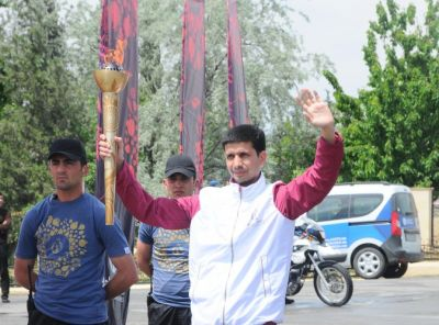 Baku 2015 flame arrives in Shirvan