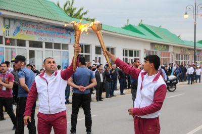 Journey of the Flame arrives in Sabirabad PHOTO