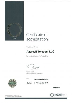 "Azercell is once again region's leader in ""Investors in People"""