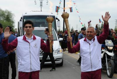Baku 2015 Flame in Beylagan