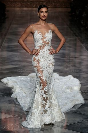 Irina Shayk in wedding dress