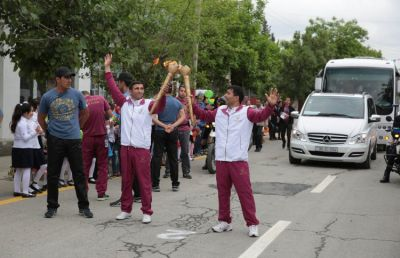 Baku 2015 Flame arrives in Zardab
