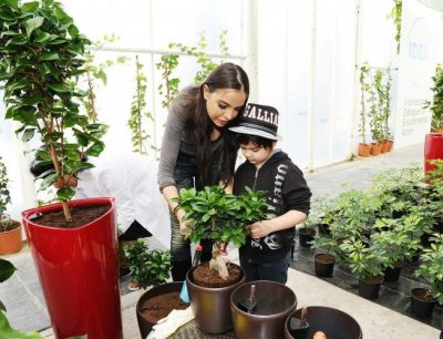 Leyla Aliyeva planted the one-millionth tree