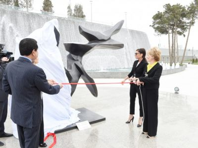 Azerbaijan`s first lady attends opening ceremony of Tree of Peace  PHOTO