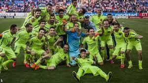 Barcelona won the Spanish La Liga