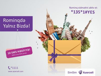 10 free SMS in roaming from Azercell!