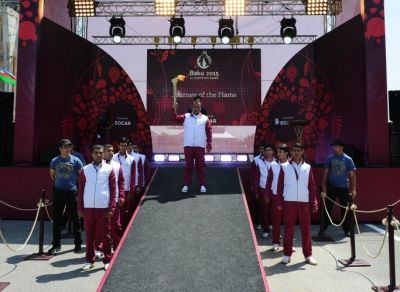 Baku 2015: Flame arrives in Ujar