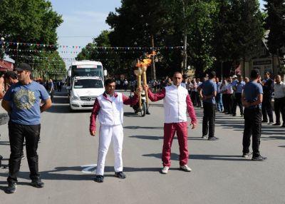 Baku 2015: Flame in Goychay