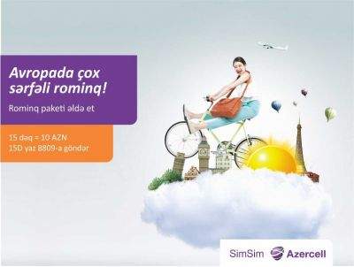 Free 15 minutes on roaming from Azercell for only 10 AZN