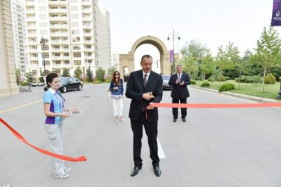 President attended the opening of the Athletes and Media Villages