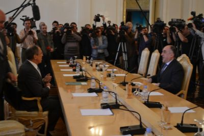 Elmar Mammadyarov  meets his Russian counterpart