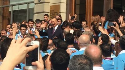 Azerbaijani President and his spouse visit BEGOC