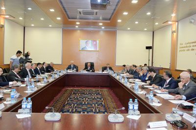 A meeting held on preparation for baku 2015  between BEGOC and MCHT