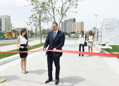 President attended the opening of the Baku White City boulevard PHOTO
