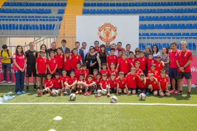 The next stage of Manchester United Summer Soccer School has started