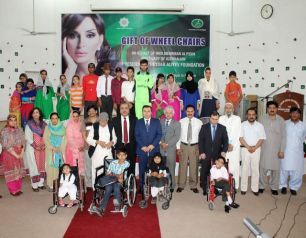 Humanitarian action held at a centre for disabled children in Islamabad