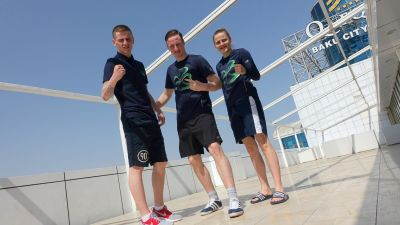Irish boxers arrive in Baku