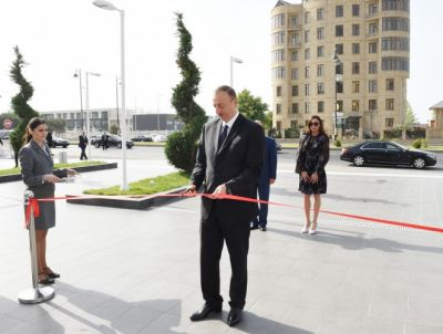 President  attended the opening of administrative building and a hotel  PHOTO