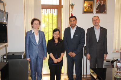 Ambassador of Iraq to Azerbaijan receives delegation of Caspian Energy