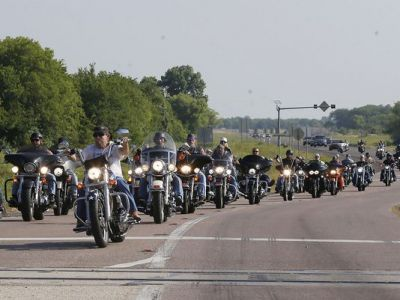 The US bikers protest Twin Peaks shootout arrests