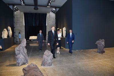 Azerbaijani President reviewed Stone Annals Museum PHOTO
