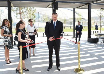 President Ilham Aliyev reviewed the newly-built park