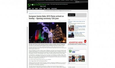 Irish news portal publishes an article on Baku 2015