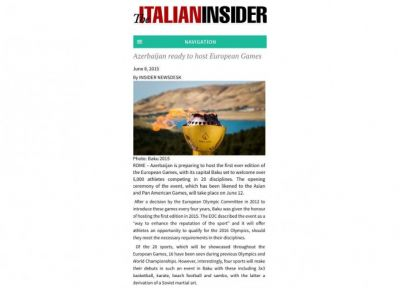 The Italian Insider highlights European Games