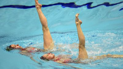 Belarus synchro pair ready to start Baku 2015 with a splash
