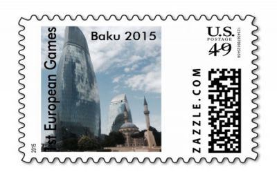 Postage stamp dedicated to European Games 2015 released in US