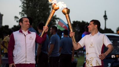 Baku 2015 Flame departs for Opening Ceremony