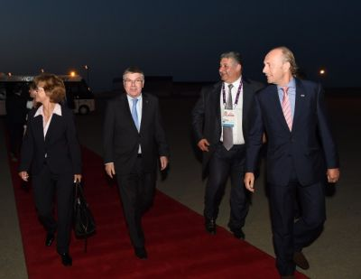 IOC President arrives in Azerbaijan