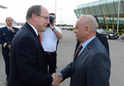 Prince Albert II of Monaco arrives in Azerbaijan to attend opening ceremony of first European Games