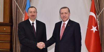 President Ilham Aliyev meets Turkish President