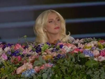 Lady Gaga performs at the European Games opening ceremony