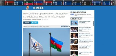 The Bleacher report highlights European Games opening ceremony