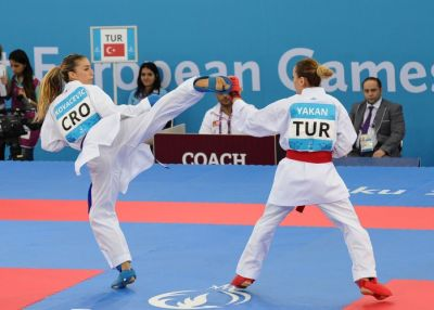 Azerbaijani fighters in action as karate events kick off