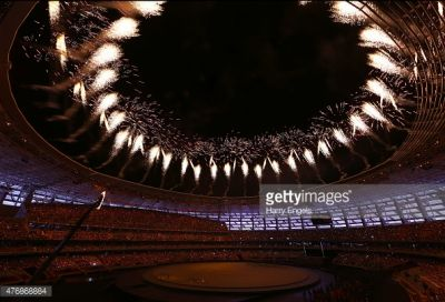Getty Image presented photo reportage of the opening ceremony
