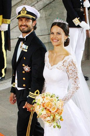 Sofia Hellqvist and Prince Carl Philip of Sweden married