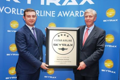 "Azerbaijan Airlines awarded  ""4 Star"" rating of Skytrax"