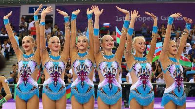'Nine out of ten' Russia claim gold in Rhythmic Gymnastics