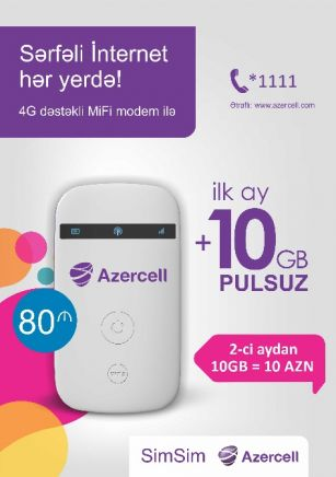 Favorable internet everywhere with Azercell
