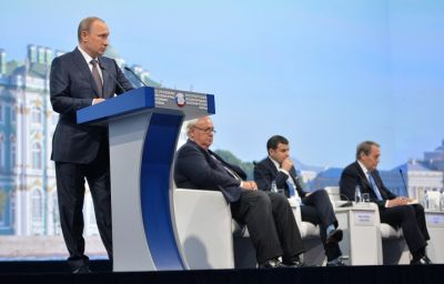 Putin: Russia not conducting aggressive policy