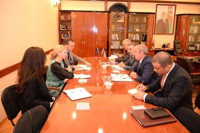 Azerbaijani Minister met Malena Mard
