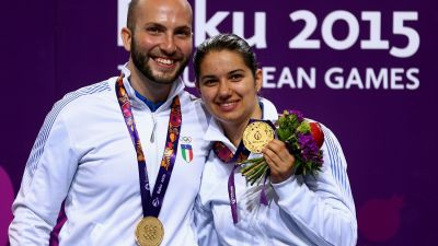 Italy's golden couple dazzle in mixed rifle event