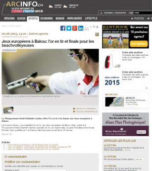 Baku 2015 in spotlight of Swiss press
