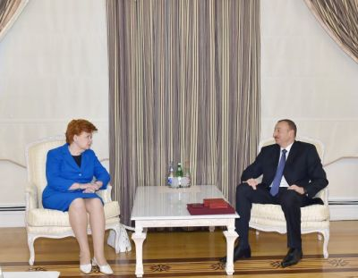 Azerbaijani President received formet Latvian President