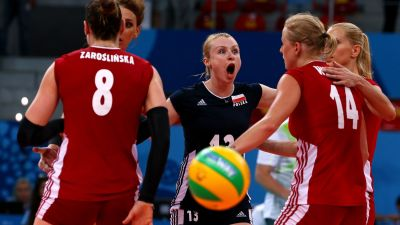 Poland Women's volleyball team into the final